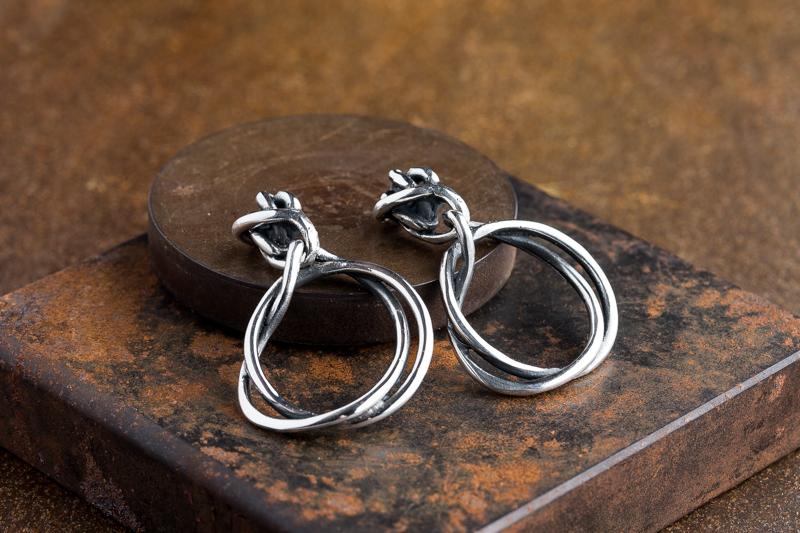 Eres Design - Orecchini Fili argento