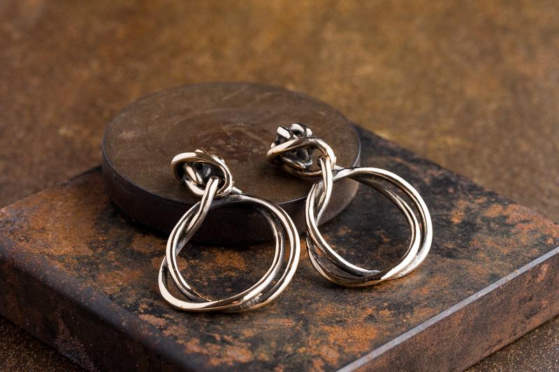 Eres Design - Orecchini Fili bronzo