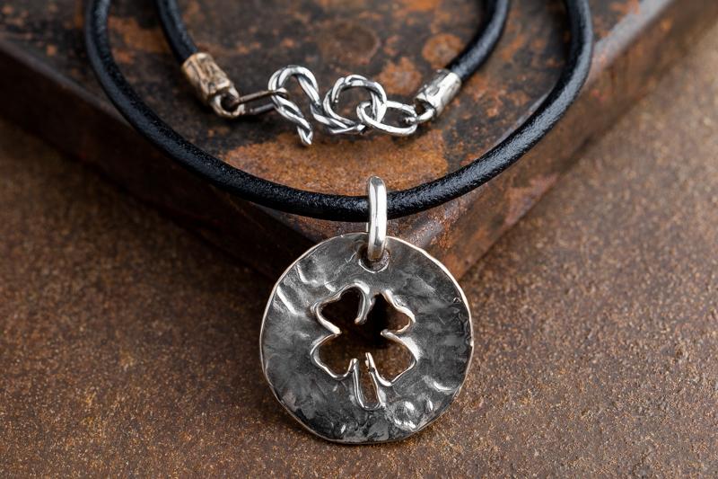 Eres Design - Ciondolo Quadrifoglio piastra traforata argento