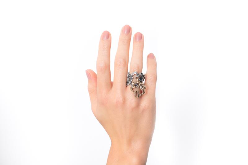 Eres Design - Anello Quadrifogli con bronzo pendente