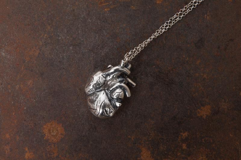 Eres Design - Ciondolo Cuore Argento con catena