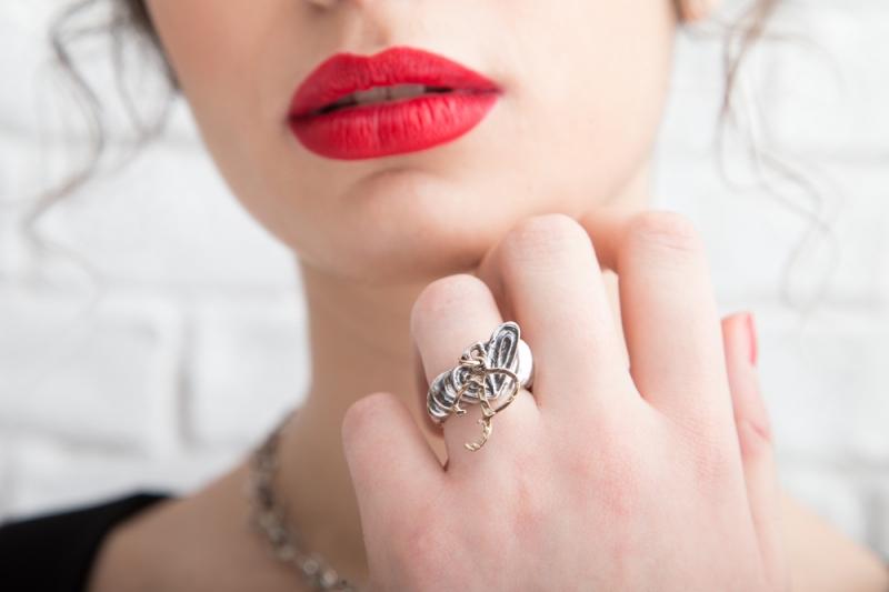 Eres Design - Anello Vortici d'Amore con lettera