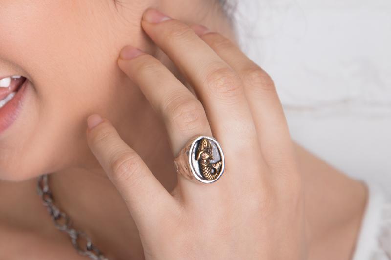 Eres Design - Anello Partenope chevalier ovale
