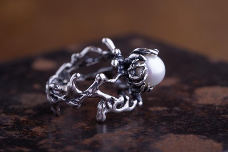 Eres Design - Anello Perla sintetica bianca